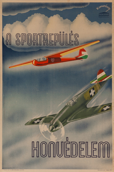 Sports Flying is National Defense, Original Hungarian WWII Poster