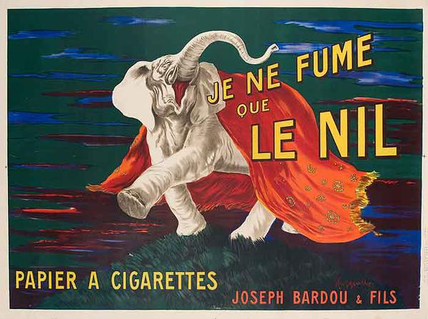 Le Nil Cigarette Rolling Paper Original Vintage Advertising Poster
