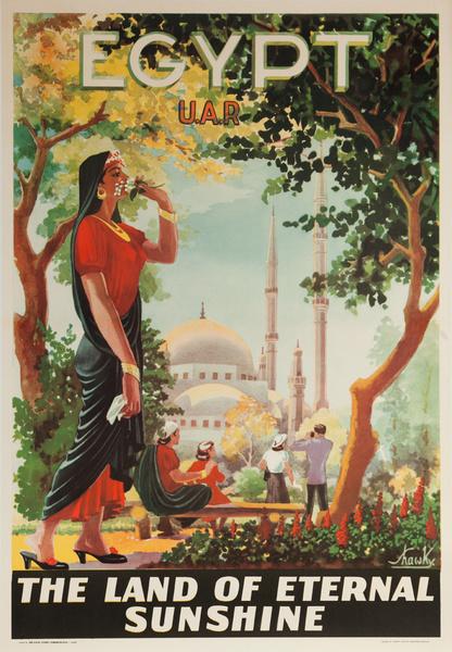 Egypt, UAR The Land of Eternal Sunshine, Original Travel Poster