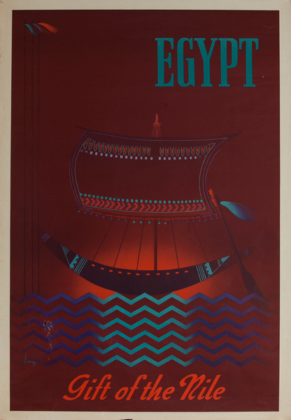 Egypt Gift of the Nile, Original Travel Poster