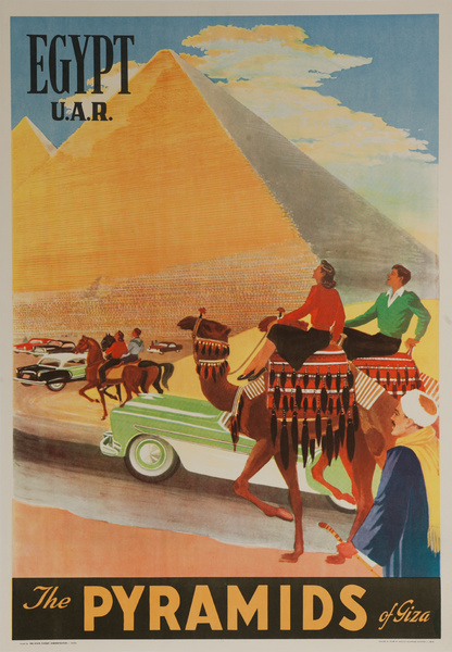 Egypt U.A.R. The Pyramids of Giza, Original Travel Poster