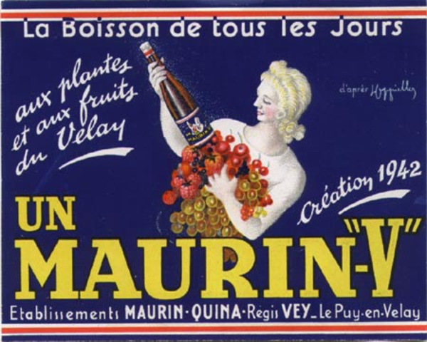 Maurin V Original wine label, Cappiello