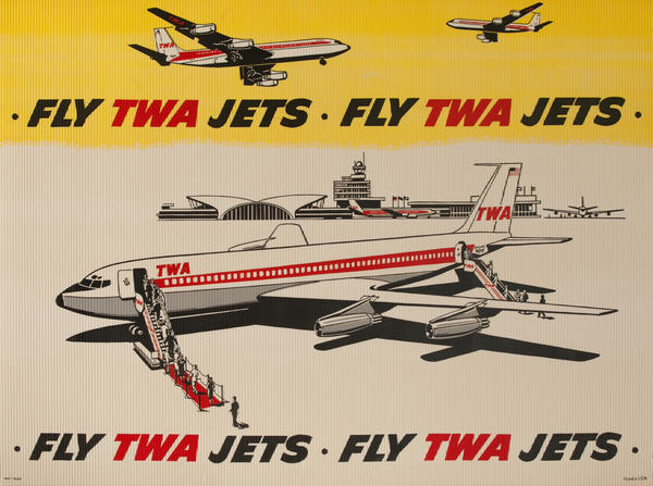 Fly TWA Jets, Original Corrugated Advertising Posters