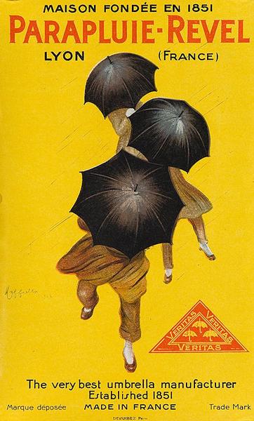Parapluie Revel paper Original Vintage Advertising Poster