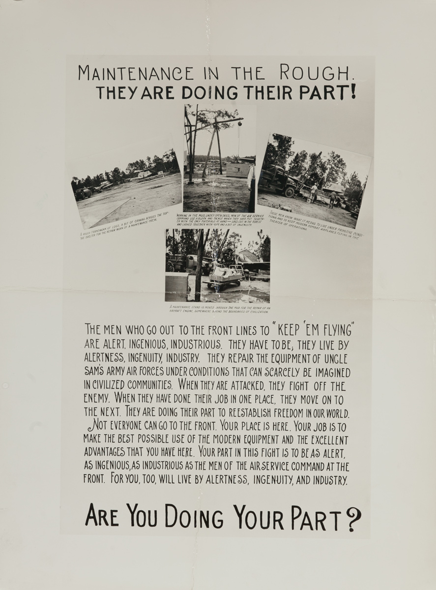 Are You Doing Your Part? Original American WWII Poster