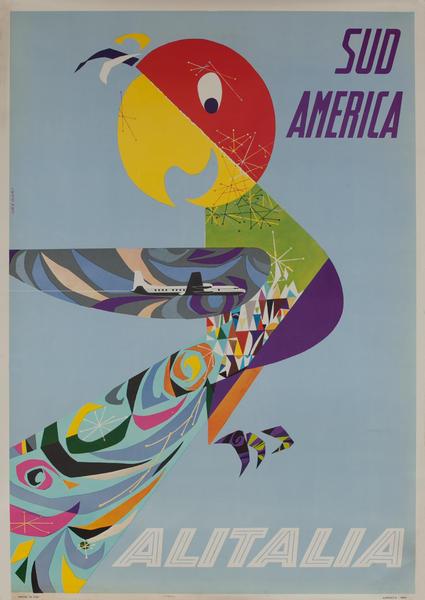 Sud America Original Alitalia South America Travel Poster