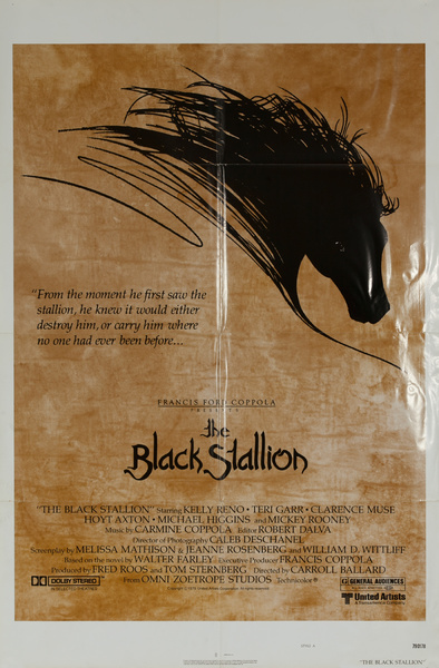 Black Stallion Original American Drama Movie Poster