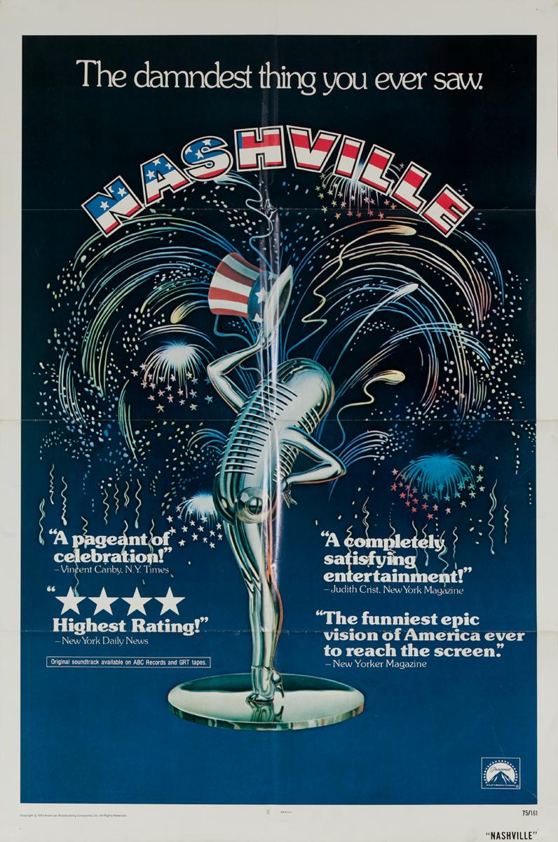 Nashville Original American 1 Sheet Movie Poster
