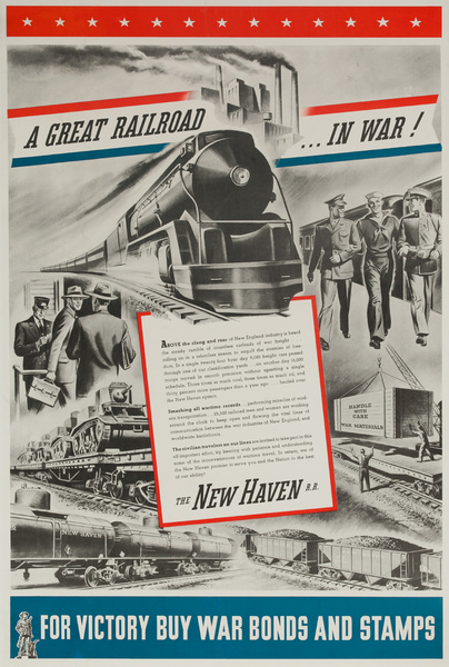 A Great Railroad ... In War, Original New Haven Railroad, American WWII