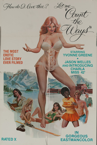 "Let Me ""Count the Ways"", Original American X-Rated Pornographic Movie Poster"