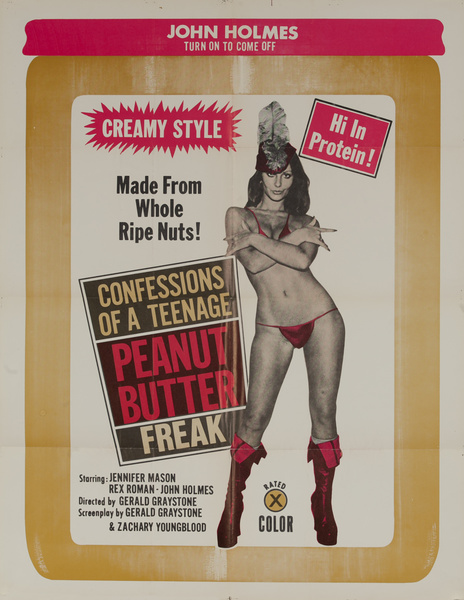 Confessions of a Peanut Butter Freak, Original American X-Rated Pornographic Movie Poster