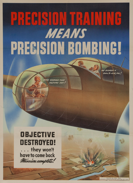 Precision Training Means Precision Bombing, Original American Army Air Force WWII Poster