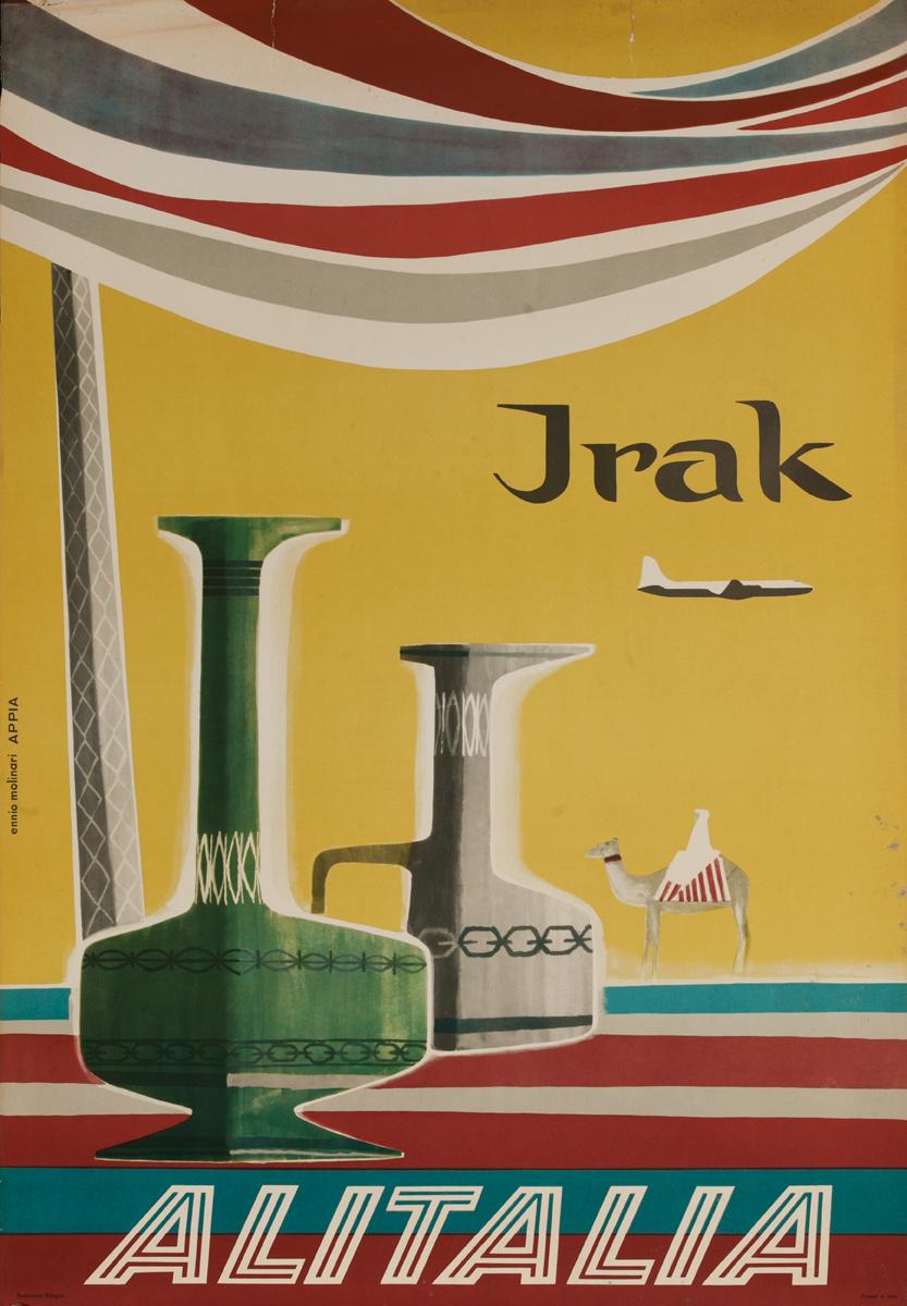 Alitalia Irak, Original Iraq Travel Poster