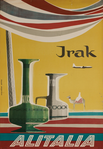 Alitalia Irak, Original Iraq Travel Poster