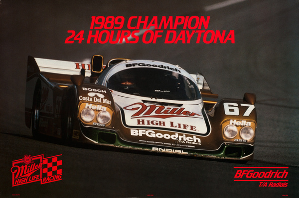 Bf Goodrich T/A Radial Tires, Original 1989 24 Hours of Daytona Poster