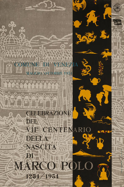Venice Italy, Marco Polo 700th Anniversary Poster, small size
