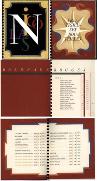 Nicolas Wine Catalog 1936