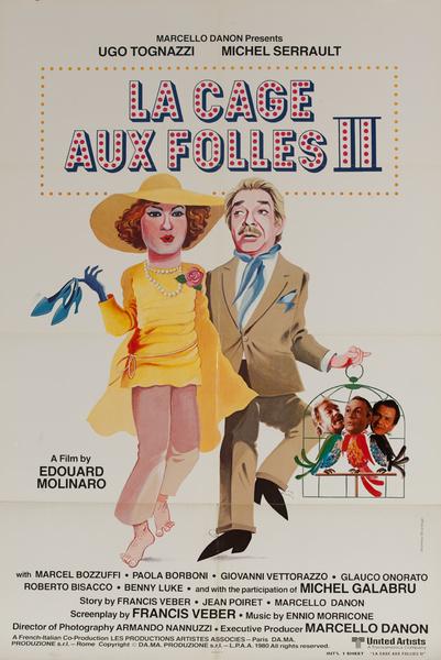 La Cage Aux Folles II, Original 1 Sheet Movie Poster