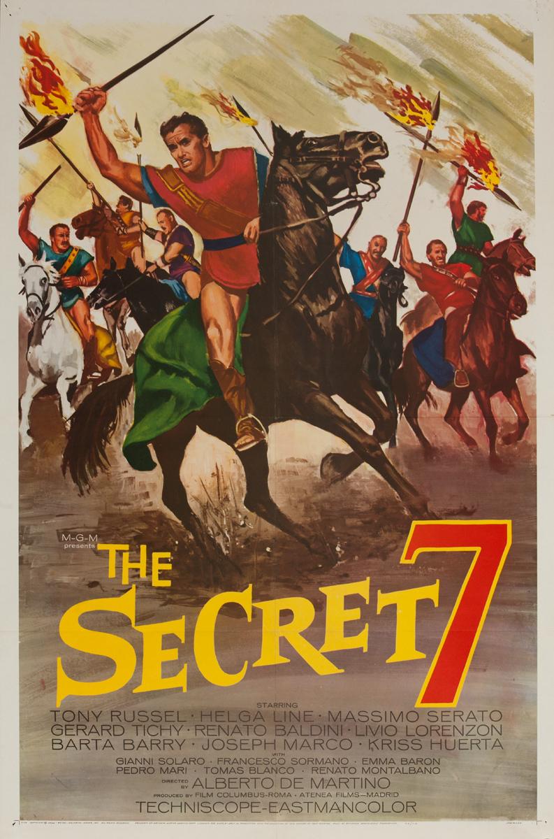 The Secret 7, Original American 1 Sheet Movie Poster