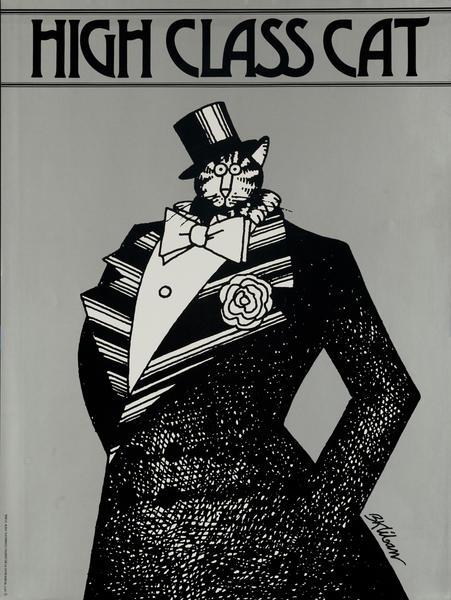 Original Kilban Cat Poster, High Class Cat