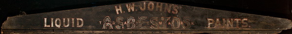 H.W. Johns' Liquid Asbestos Paint Original Trade Sign