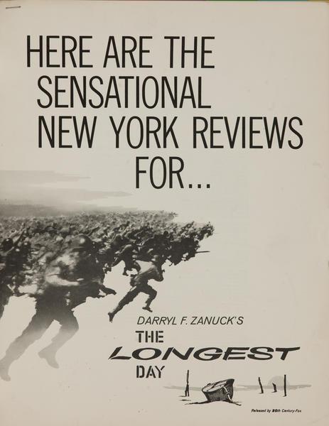 The Longest Day American Movie Pressbook