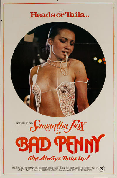 Bad Penny, She Always turns Up!, Original American X Rated Adult Movie Poster