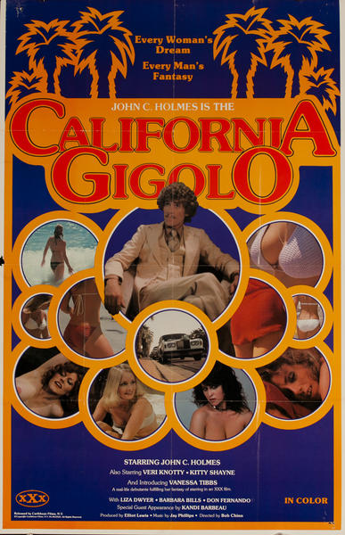 California Gigolo, Original American X Rated Adult Movie Poster