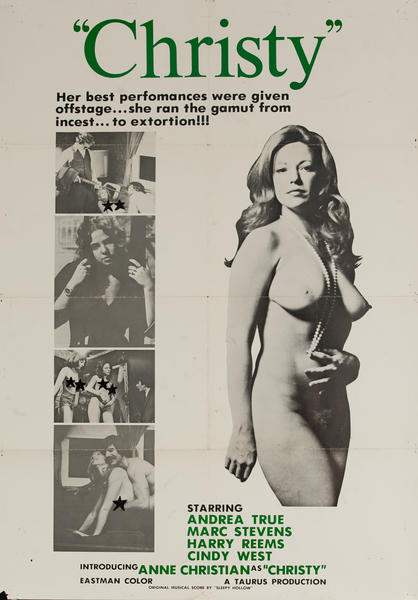 Christy, Original American X Rated Adult Movie Poster
