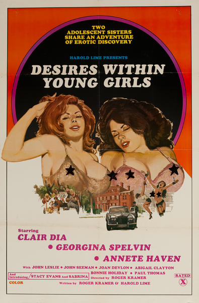 Desire Within Young Girls, Original American X Rated Adult Movie Poster