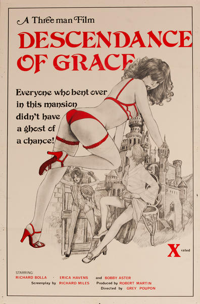 Descendance of Grace,  Original American X Rated Adult Movie Poster