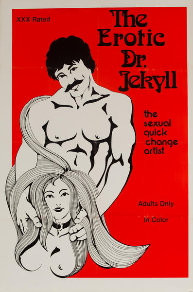 The Erotic Dr. Jekyll, Original American X Rated Adult Movie Poster