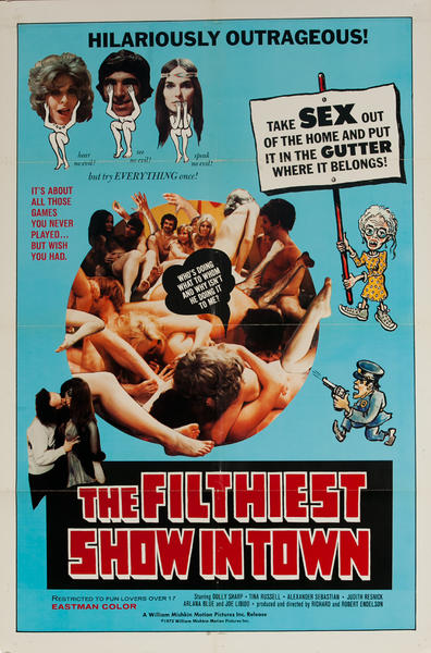 The Filthiest Show in Town, Original American X Rated Adult Movie Poster