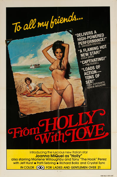 From Holly With Love, Original American X Rated Adult Movie Poster