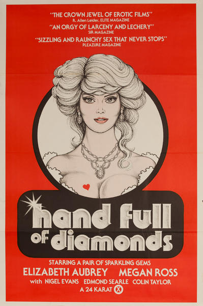Hand Full of Diamonds, Original American X Rated Adult Movie Poster