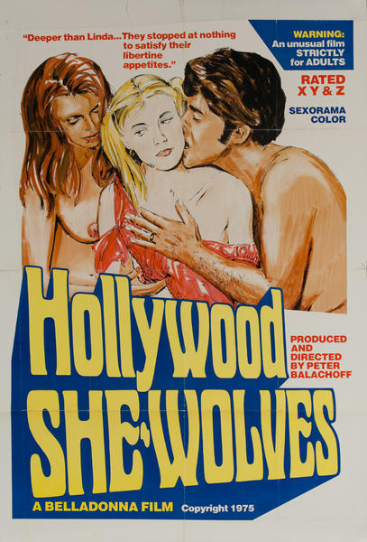 Hollywood She Wolves, Original American X Rated Adult Movie Poster