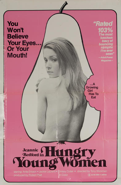 Hungry Young Women, Original American X Rated Adult Movie Poster