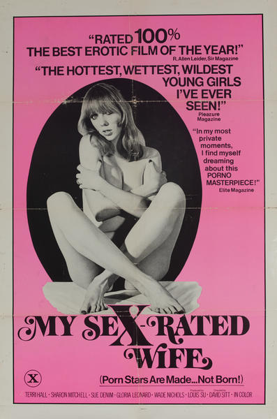 My Sex Rated Wife, Original American X Rated Adult Movie Poster