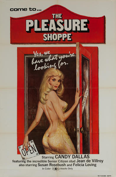 The Pleasure Shoppe, Original American X Rated Adult Movie Poster