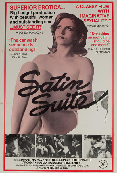 Satin Suite, Original American X Rated Adult Movie Poster