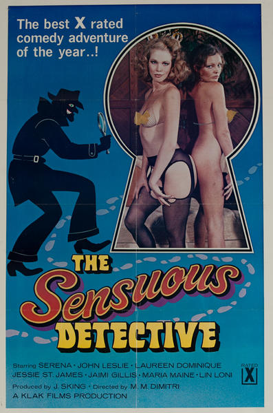 The Sensuous Detective, Original American X Rated Adult Movie Poster