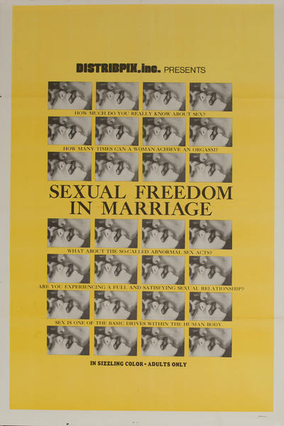 Sexual Freedom in Marriage, Original American X Rated Adult Movie Poster