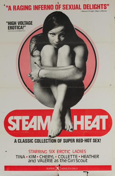 Steam Heat, Original American X Rated Adult Movie Poster