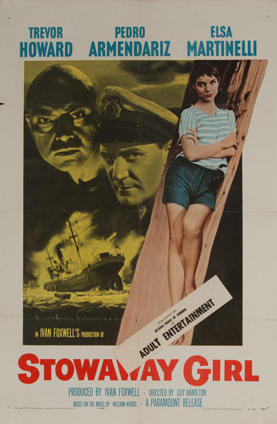 Stowaway Girl, Original American X Rated Adult Movie Poster