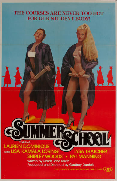 Summer School, Original American X Rated Adult Movie Poster
