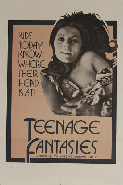 Teenage Fantasies, Original American X Rated Adult Movie Poster