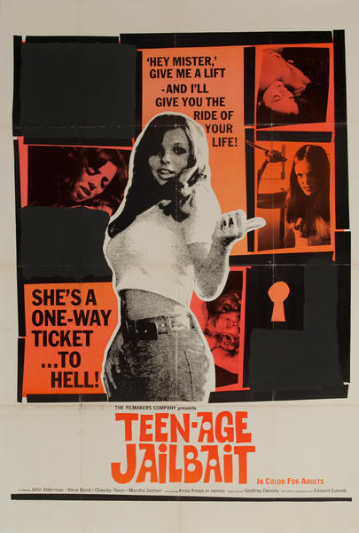 Teen-Age Jailbait, Original American X Rated Adult Movie Poster