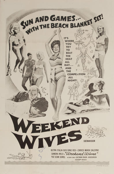 Weekend Wives, Original American X Rated Adult Movie Poster