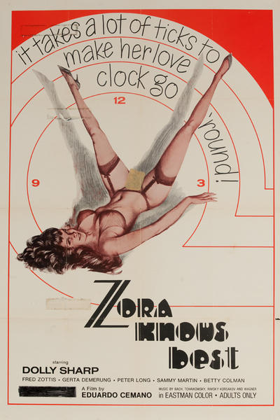 Zora Knows Best, Original American X Rated Adult Movie Poster