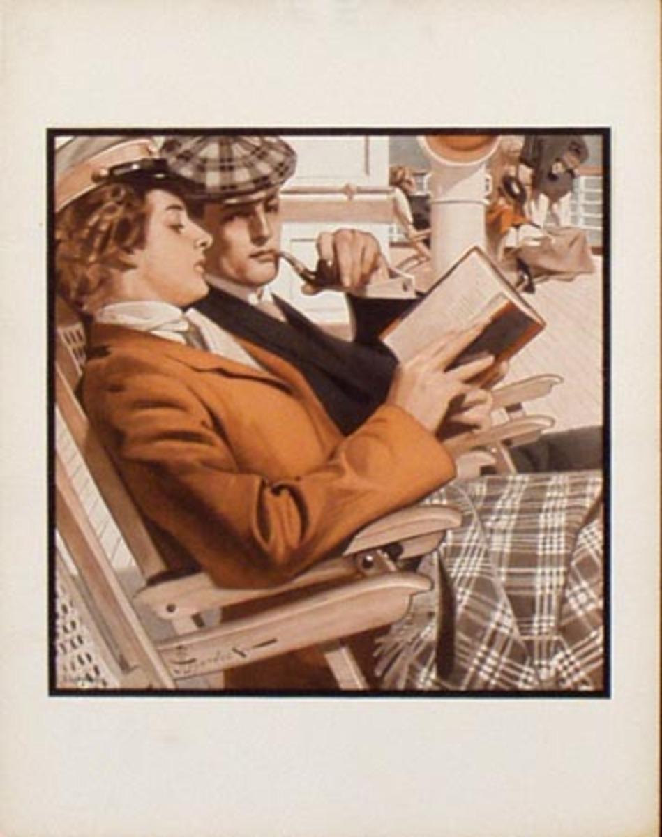 Original Vintage Illustration Print Shipmates JC Leyendecker
